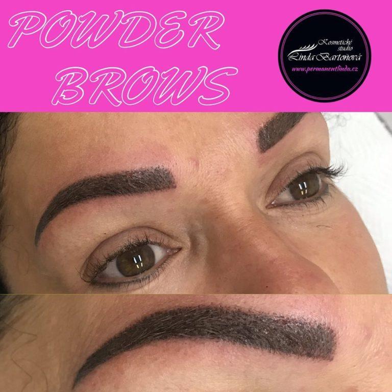 kosmetička stylistka Linda Bartoňová Kosmetické studio permanentní makeup nový jičín powder brows pudrové obočí