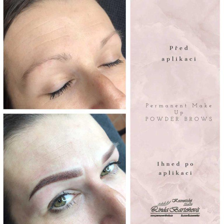 Permanentní make up, kosmetička a stylistka Linda Bartoňová Kosmetické studio, permanentní makeup, nový jičín, powder brows, pudrové obočí, microblading